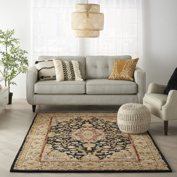 Black Traditional / Oriental Area-Rugs