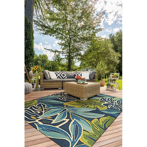 Azure, Forest Green (4361-0671) Floral / Botanical Area-Rugs