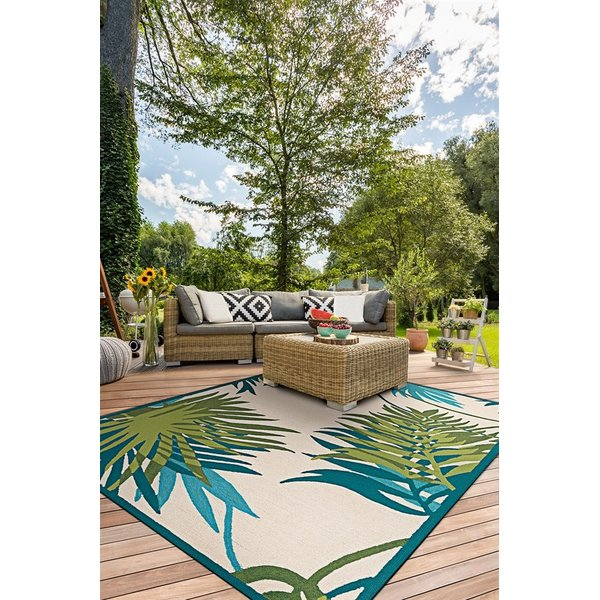 Ivory, Forest Green (2992-0505) Floral / Botanical Area Rug