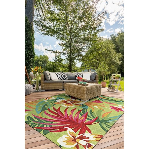 Fern, Red (4098-4071) Floral / Botanical Area Rug