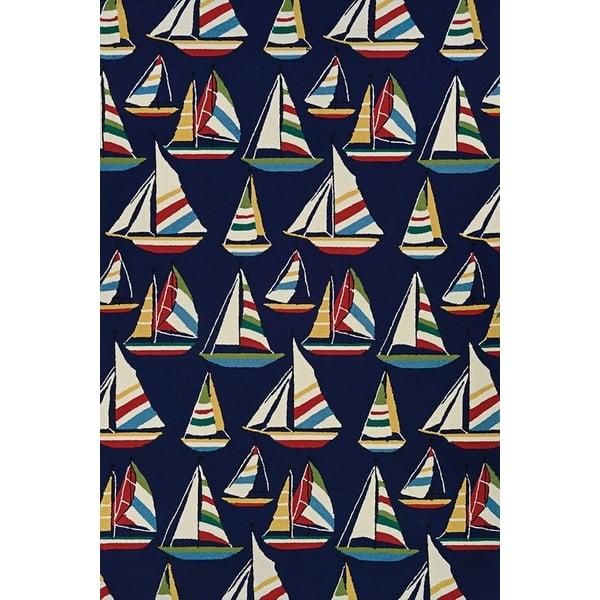 Navy (6856-8252) Beach / Nautical Area Rug