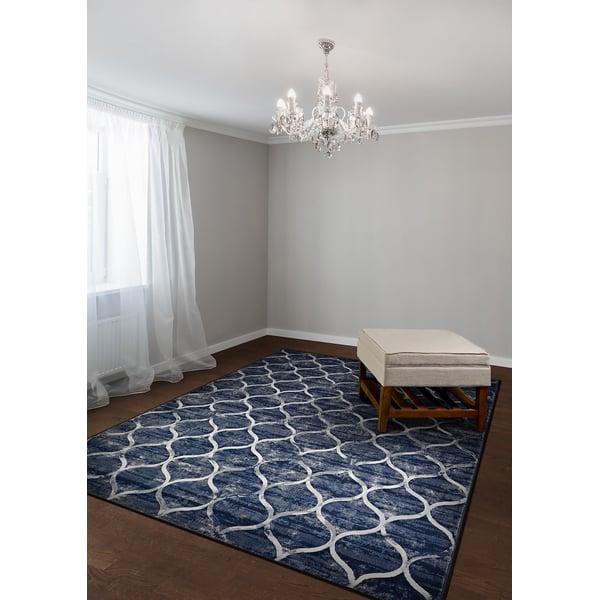 Dusk Blue (6345-5676) Contemporary / Modern Area Rug