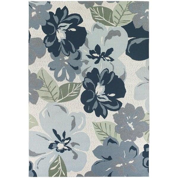 Grey (4055-0234) Floral / Botanical Area Rug