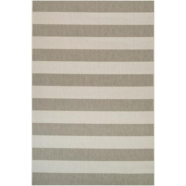 Tan, Ivory (5229-6099) Striped Area Rug