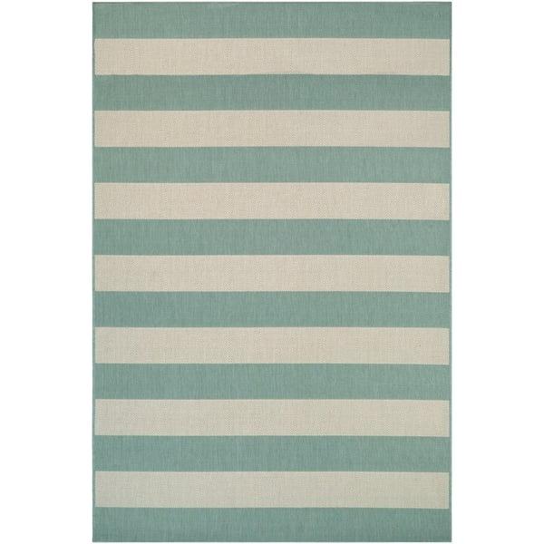Sea Mist, Ivory (5229-8003) Striped Area Rug