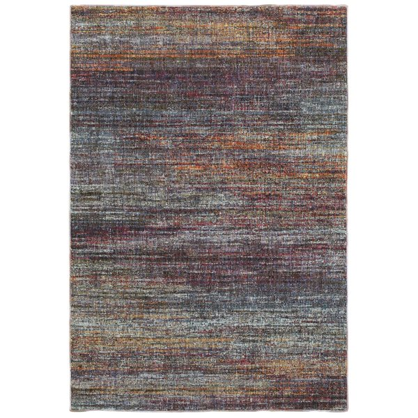 Grey, Purple, Orange (B) Contemporary / Modern Area-Rugs