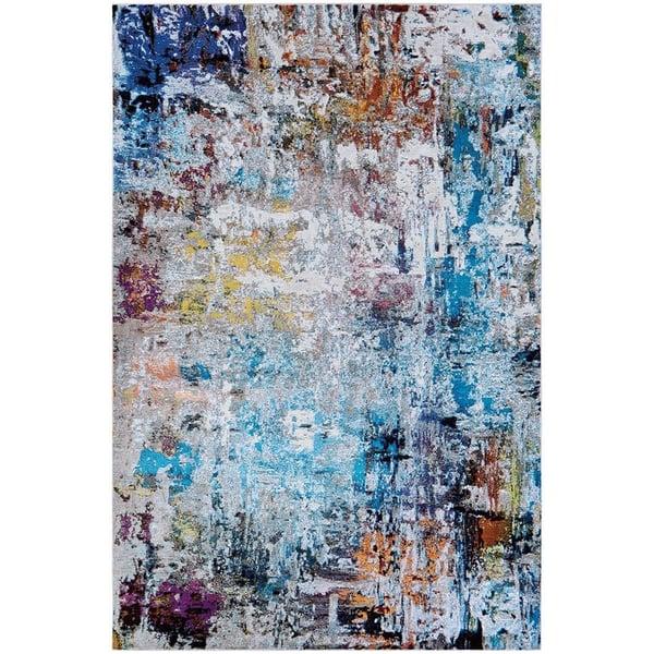 Bone, Sky Blue (AV29-0228) Abstract Area Rug