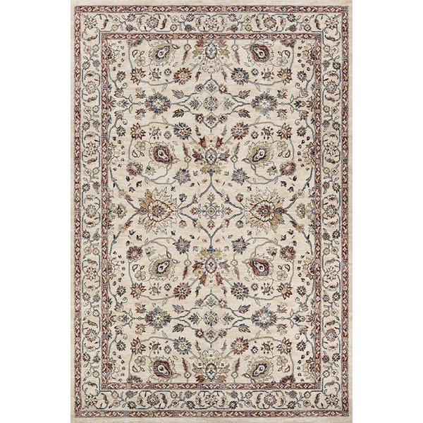 Antique Cream, Red (JE45-6484) Traditional / Oriental Area Rug