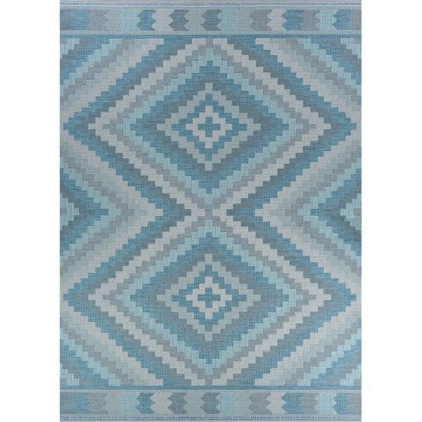 Blue, Beige, Grey Southwestern Area Rug