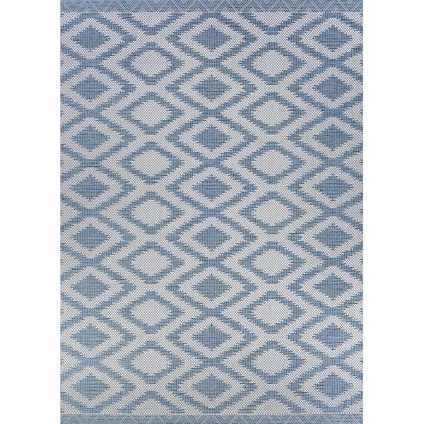 Blue, Light Grey Contemporary / Modern Area-Rugs