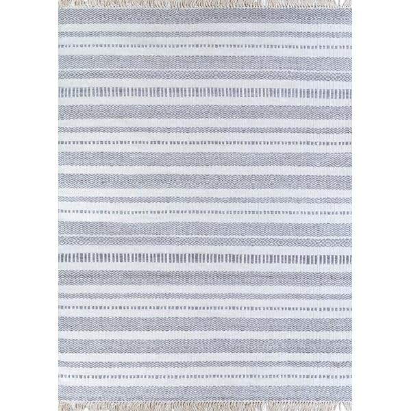 Light Grey, Ivory Contemporary / Modern Area Rug