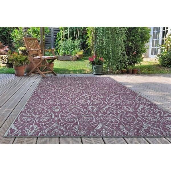 Plum, Ivory, Purple Contemporary / Modern Area-Rugs