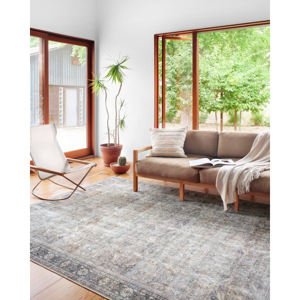 Grey, Charcoal, Navy, Taupe, Beige Vintage / Overdyed Area-Rugs
