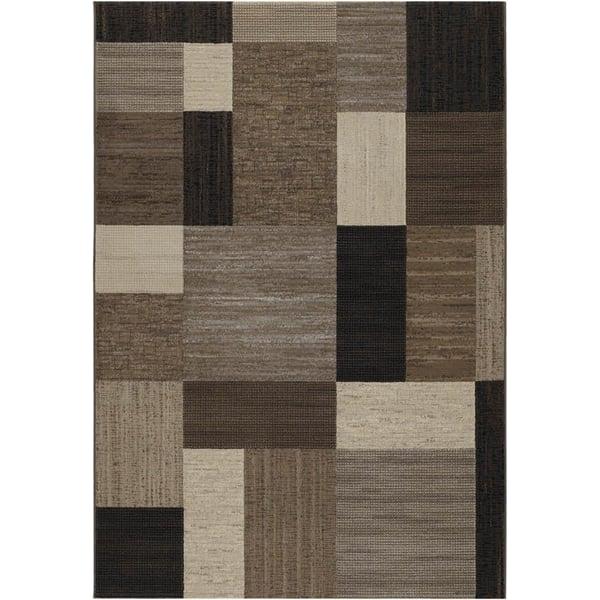 Brown, Bark, Black (6303-4343) Geometric Area-Rugs