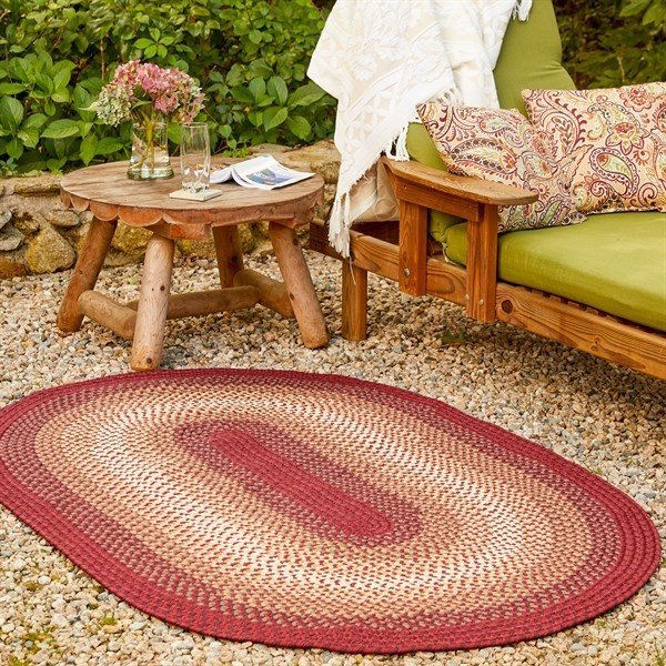 Colonial Red (SM-42) Country Area-Rugs