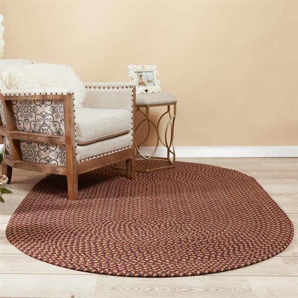 Burgundy (WC-46) Country Area Rug