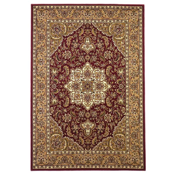 Red, Beige (7326) Traditional / Oriental Area Rug