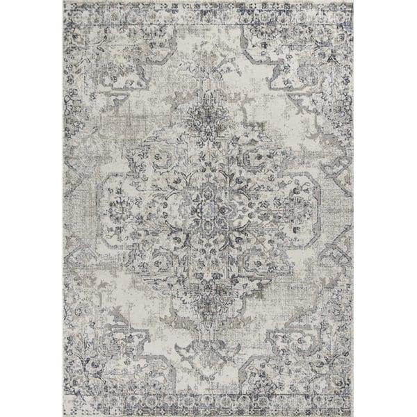 Ivory, Grey (9471) Vintage / Overdyed Area Rug