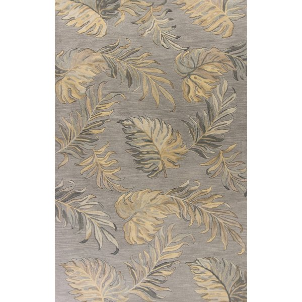 Grey (2639) Floral / Botanical Area-Rugs