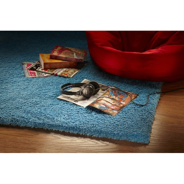 Highlighter Blue (1577) Shag Area Rug