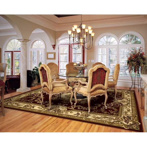 Red, Ivory (5308) Traditional / Oriental Area-Rugs