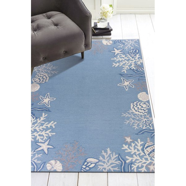 Sea Blue (2024) Beach / Nautical Area Rug