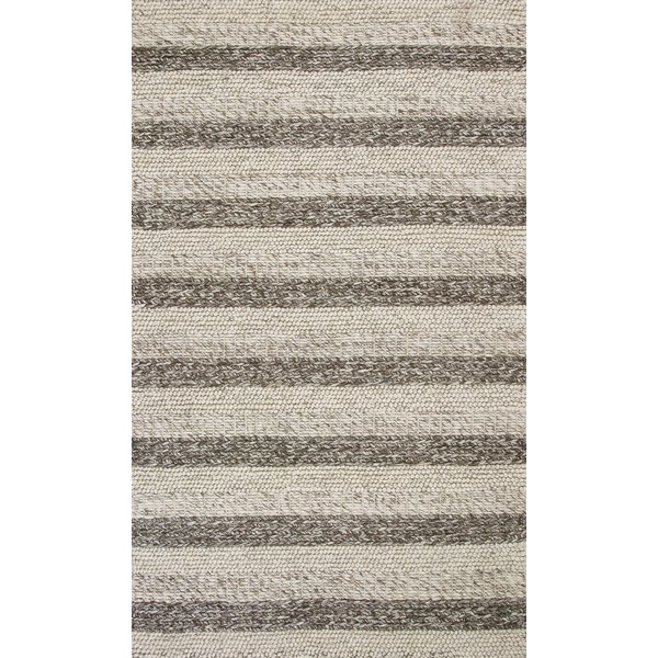 Grey, White (6158) Striped Area Rug