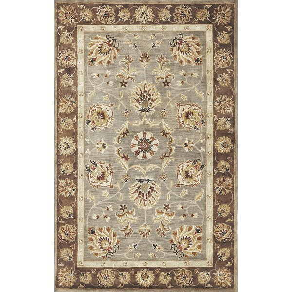 Grey, Mocha (6000) Traditional / Oriental Area Rug