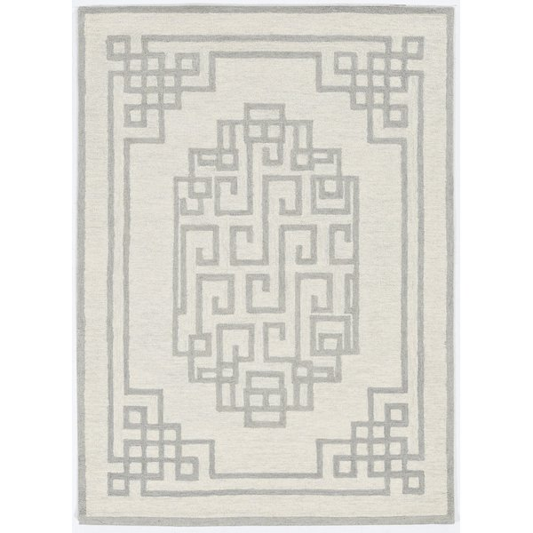 Ivory, Grey (1612) Contemporary / Modern Area-Rugs