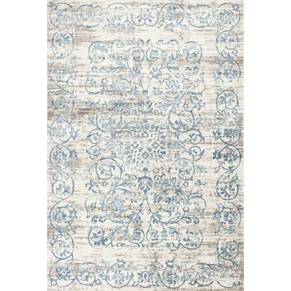 Ivory, Blue (6503) Vintage / Overdyed Area Rug