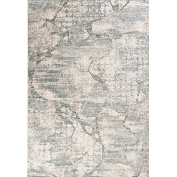 Ivory, Mist (6514) Abstract Area Rug