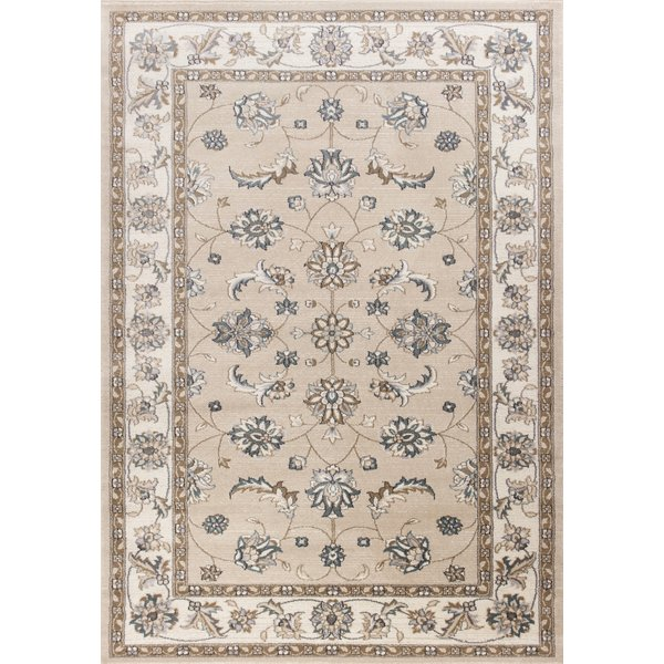 Beige, Ivory (5609) Traditional / Oriental Area Rug
