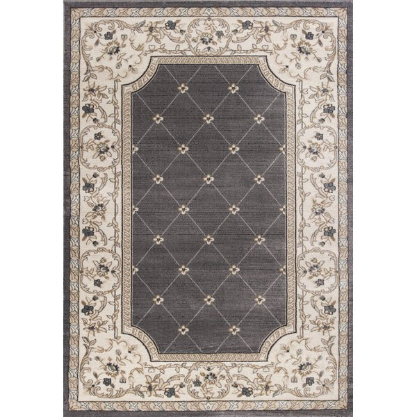 Grey, Ivory (5615) Traditional / Oriental Area Rug