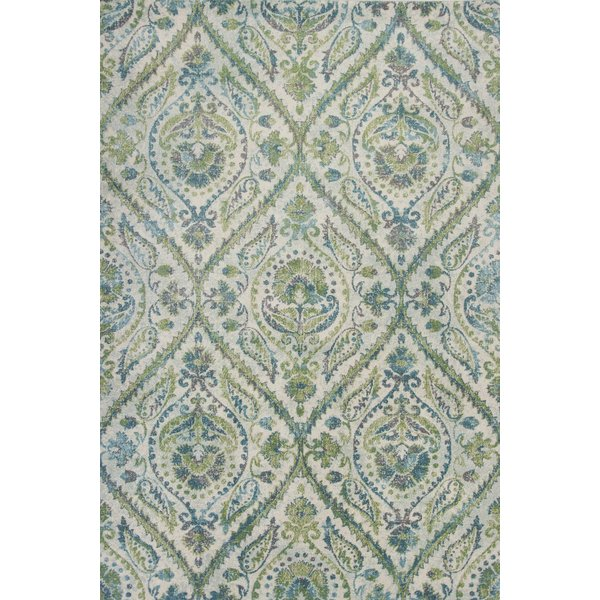 Ivory, Teal (6256) Traditional / Oriental Area Rug