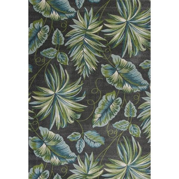 Grey (6263) Floral / Botanical Area Rug