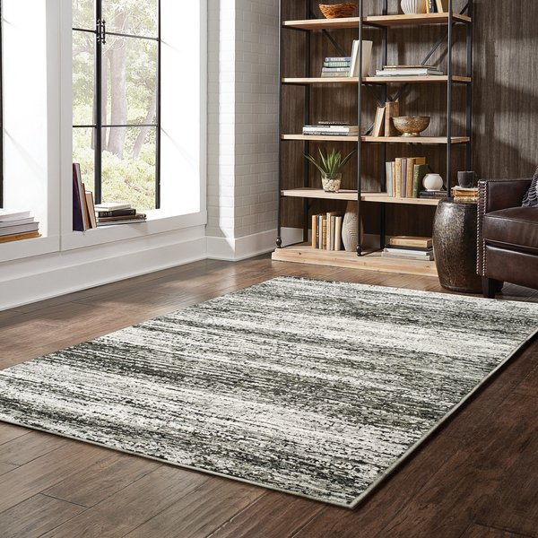 Charcoal, Ash (G) Contemporary / Modern Area-Rugs