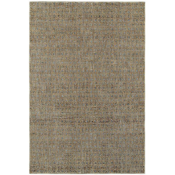 Blue, Gold (B) Contemporary / Modern Area-Rugs