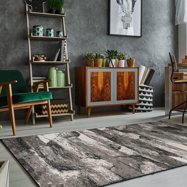 Grey (5907) Contemporary / Modern Area Rug