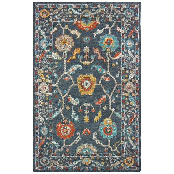 Blue, Gold Traditional / Oriental Area-Rugs