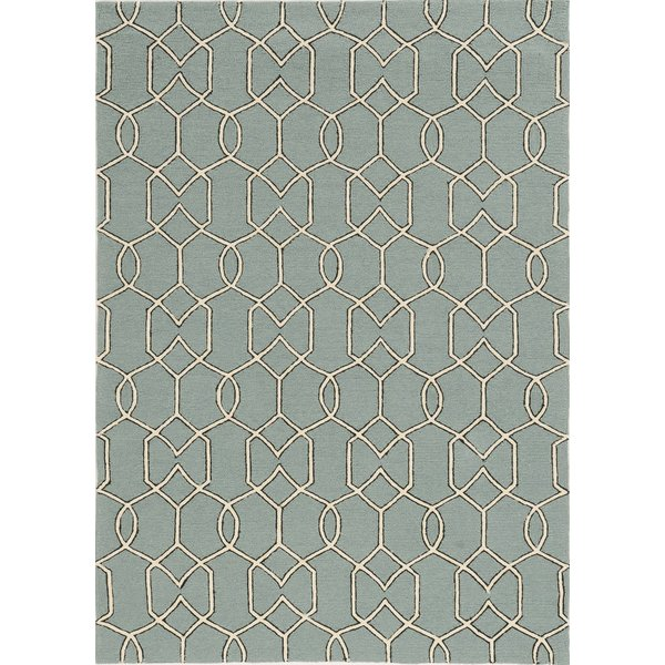 Blue Green, Ivory (5232) Contemporary / Modern Area Rug