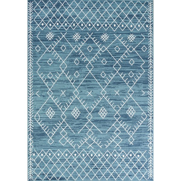 Ocean Blue (6423) Moroccan Area Rug