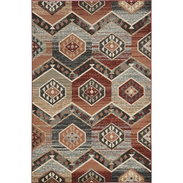 Red (5630) Bohemian Area Rug