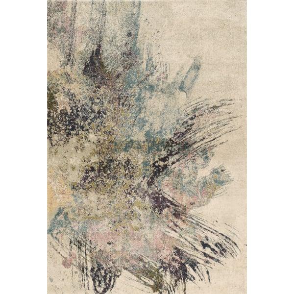 Ivory, Blue (4713) Contemporary / Modern Area Rug
