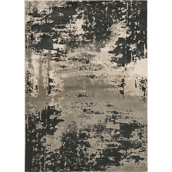 Silver, Charcoal (7121) Contemporary / Modern Area Rug