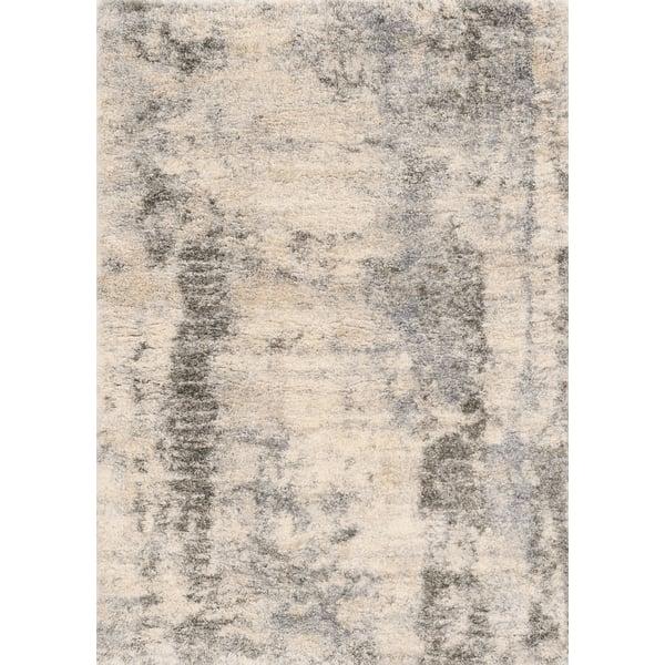 Ivory, Blue (6704) Shag Area Rug