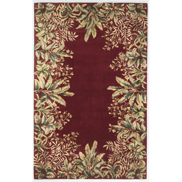 Ruby (9017) Floral / Botanical Area-Rugs