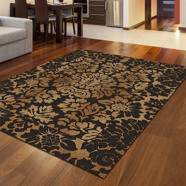 Brown, Gold Traditional / Oriental Area Rug