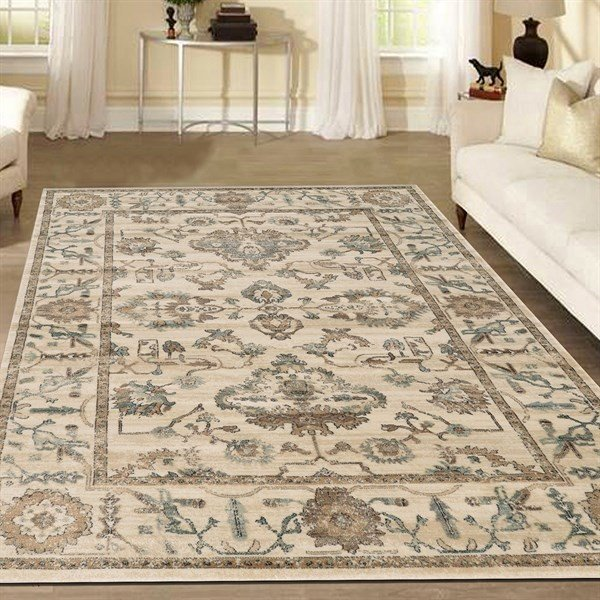 Bone Traditional / Oriental Area Rug