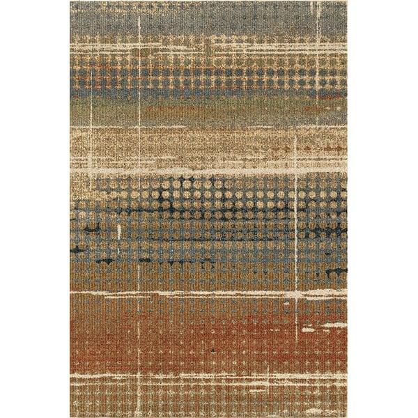 Beige, Rust (4400) Contemporary / Modern Area Rug