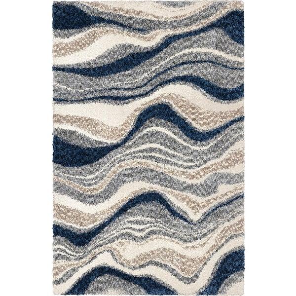 Blue, Grey (8310) Shag Area-Rugs